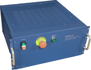 Front view of the Rapid II test cell controller
