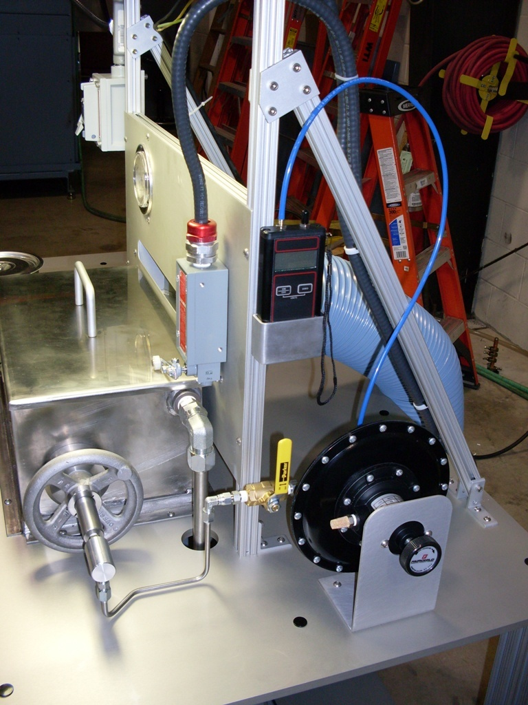 Bubble Point Tester - Side View